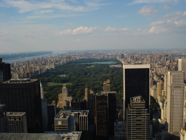 On top of the Rockafella - Central Park